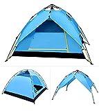 WDDP Campingzelt Leichte wasserdichte Kuppelzelte Für Familien Camping 3-4 Personen Stil Im Freien Grün Zwei Schichten Outdoor-Zelt,B