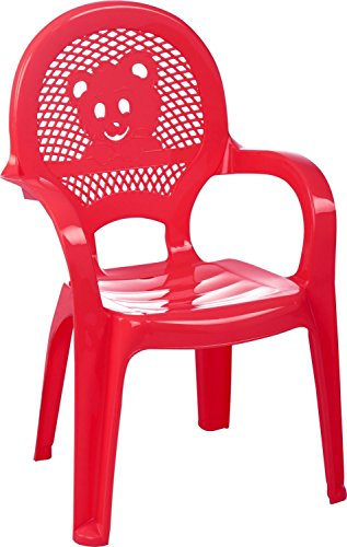 Terrasse, Stapelbar (Kinder Gartenstuhl - Kunststoff - Rot - Kindermöbel (1 Stuhl))