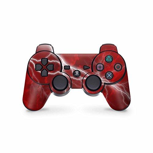 Skins4u Playstation 3 Controller Skin Design Sticker Set für PS3 Gamepad - Apocalypse Red