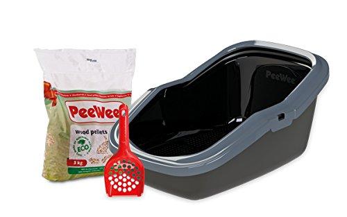 PeeWee EcoMinor - Katzentoilette - Starter-Paket Schwarz