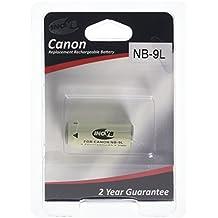 Reemplazo Inov8 litio baterías de cámaras digitales R-C-B Canon NB 9L, NB-9L, NB9L, 870mAh 3.7V (Pack de 2)