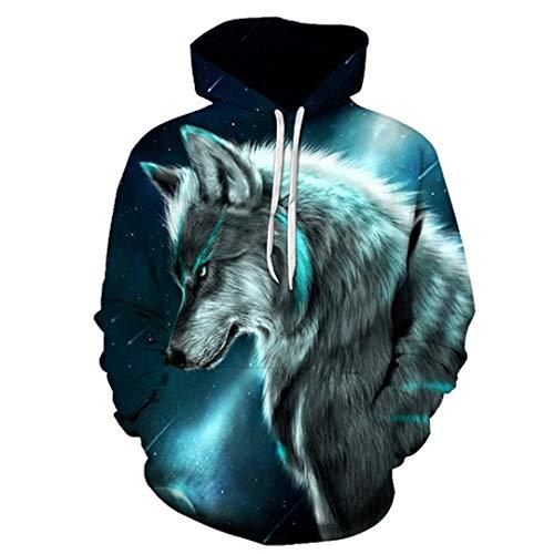 Wolf Eagle Kleidung Cloud Pocket Tier Hoddie Sweatshirt 3D Hoodies mit Kapuze Hip Hop Casual LMWY-385 6XL Eagle Herren Hoodie
