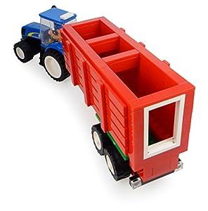 Universal Hobbies-uhk1210-Tractor en Ladrillos-New Holland con Remolque de heno y fermier-318Piezas