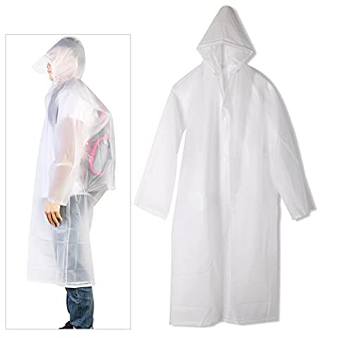 TINKSKY Reusable Rain Poncho Portable Raincoats with Sleeves for Adults,Travel and Outdoor