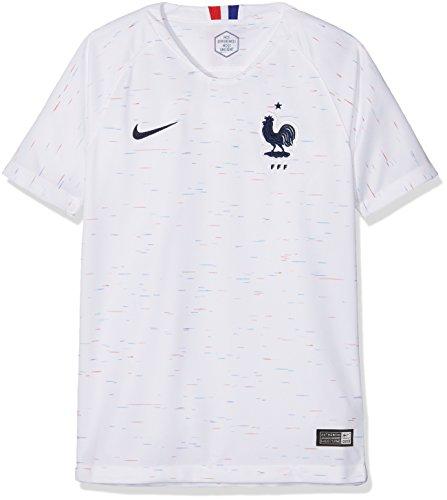 Nike 893988–100–Camiseta de fútbol Infantil, Color Blanc/(Obsidian), tamaño FR : L (Taille Fabricant : L)