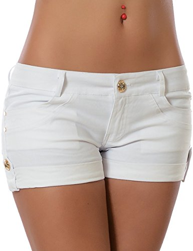 Damen Shorts Hotpants No 13776 Weiß XXL / 44