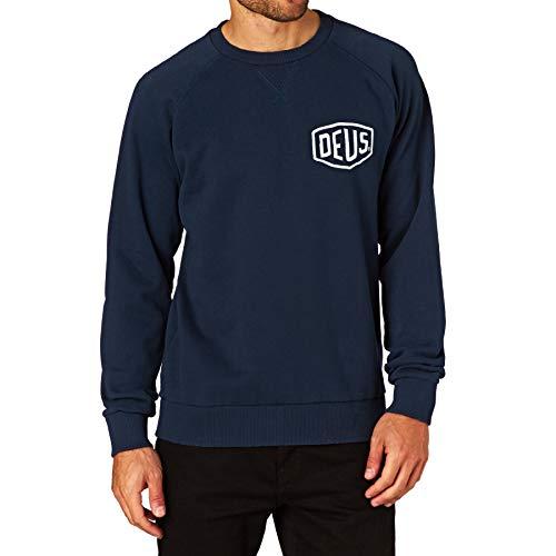 Deus Ex Machina Venice address crew sweatshirt navy, M (Crew Clothing Stores)