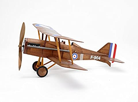 RAF SE5a WWI Bi-plane model airplane complete vintage model rubber-powered balsa wood aircraft kit that really