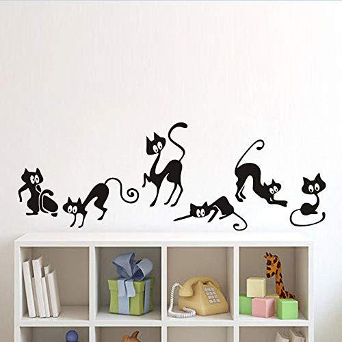 lustige Elf-Katzen-Abziehbilder für Schlafzimmerwohnzimmer Halloween-Dekorations-Sofa-Hintergrund-selbstklebendes Papier ()