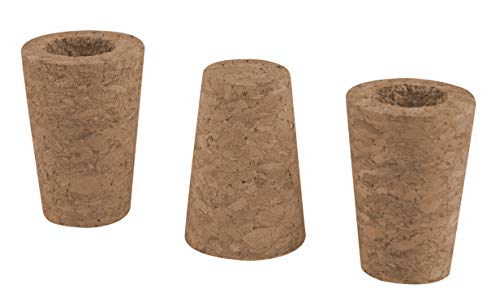 Windhager Rosenkugel-Korken, 3 Stück für 12-16 cm Kugeln, Ersatzkorken für Gartenkugel, braun, 3x13x13 cm, 07954