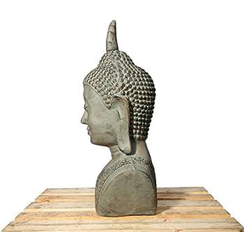 Xxl Buddha Kopf 113cm Skulptur Steinoptik Frostfest Indoor-outdoor Buddha 406150 1