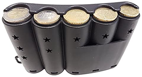 Coin box claire-foncet Round Server with Curved 5Main Euro Dispenser Pieces Belt Clip, Ideal for, Waitress Server, Taxi Driver, Bus, Boiler Man, Forain, Ambulants Seller)
