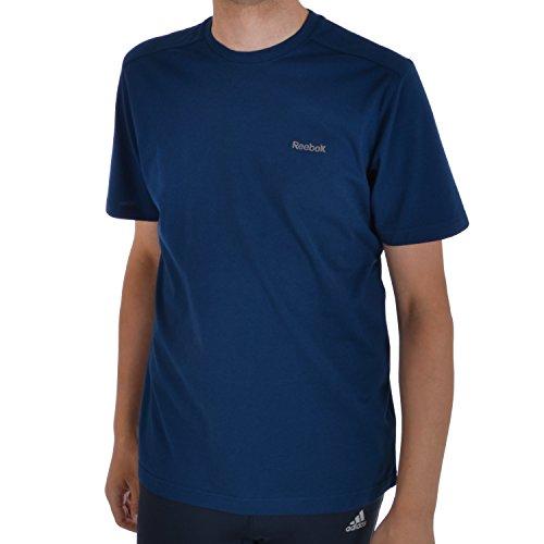 Reebok Core a maniche corte da uomo Regular Fit girocollo cotone t shirt Top, colore: blu, Blue, S
