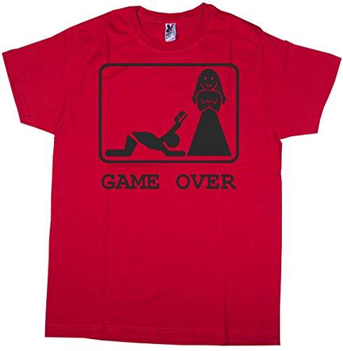 Centro Stampa Brianza T-shirt addio al celibato - Game over carta di credito - Celibato - Nubilato - Magliette per...