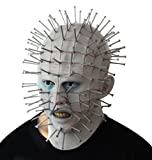 hcoser Hellraiser máscara de Cabeza de alfiler máscara de Horror con uñas de plástico Halloween Cosplay Party Costume