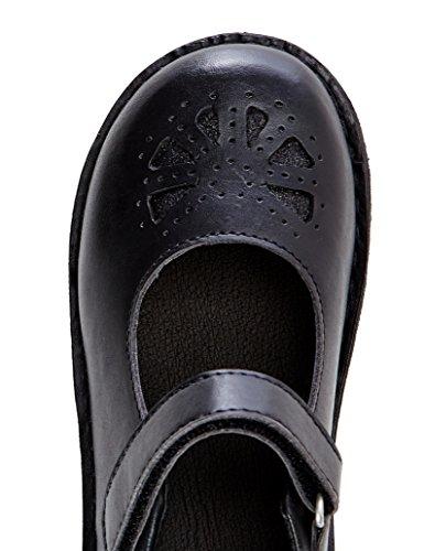 RED WAGON Sandales à Scratch Fille Noir (Black)