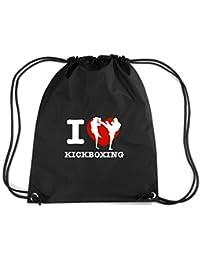 T-Shirtshock - Mochila Budget Gymsac TAM0052 i love kick boxing dark tshirt