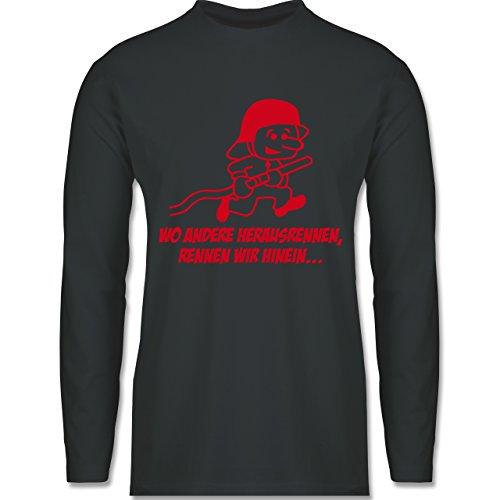 Feuerwehr - Feuerwehr - Wo andere herrausrennen - Longsleeve /  langärmeliges T-Shirt für Herren