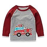 Baiomawzh Ropa Bebe Niño Otoño Invierno Camisas Mangas Largas Camisetas Patchwork Tops Algodón Blusa Cuello Redondo Camisola T-Shirt Ropa Deportiva Casuales para 1-7 Años Chicos