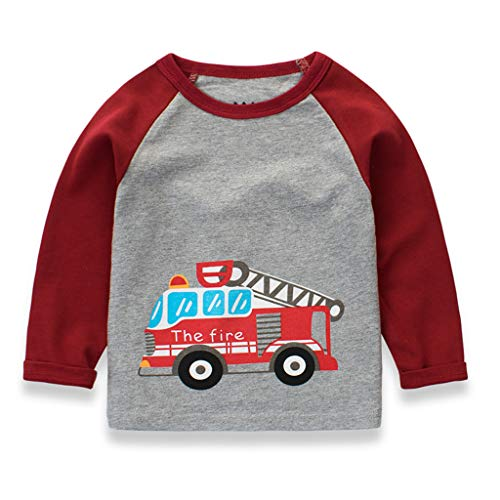 Stück Kostüm 3 Falten - WINLISTING Kleinkind scherzt Baby Langes Hülsen Karikatur Auto Hemd übersteigt T Stück Kleidungs Kostüm