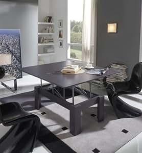 Table basse relevable contemporaine KOMODO, disponible en 11 coloris Teck
