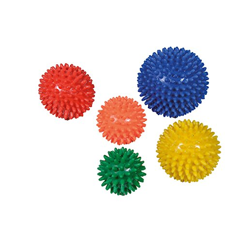 Noppenball, 10 cm, blau von Dr. Junghans Medical | 100 mm Igelball Massageball Stachelball - Massage für Hand, Fuß, Ferse, Rücken, Reflexzonen | Dr. Junghans Medical Anti-Stress-Ball
