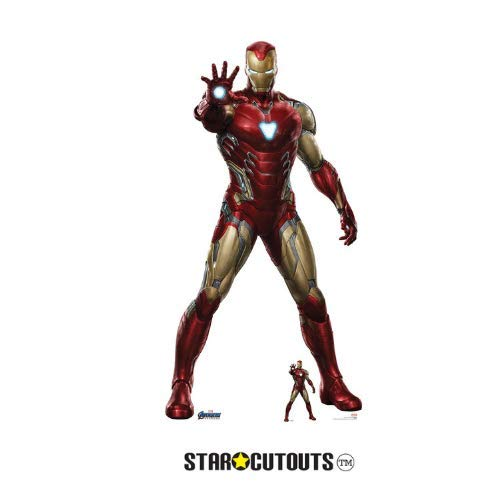 Star Cutouts SC1314 Marvel Iron Man Robert Downey Jr 185 cm hoch Avengers Endgame Lebensgröße Papp-Figur, Mehrfarbig (America Captain Cut-out)