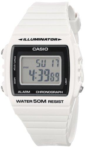 Casio W-215H-7AVCF - Reloj de Pulsera Unisex, Resina, Color Blanco