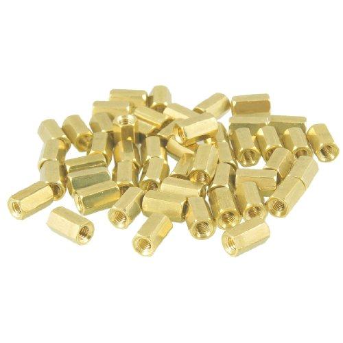 50Stück Metall Hex M3weiblich Schraube PCB Unentschieden Spacer 8mm Körper (Schrauben Berg Körper)