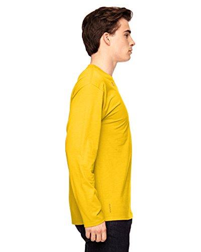 T390Champion Vapor® Baumwolle Langarm T-Shirt SPORT ATH GOLD