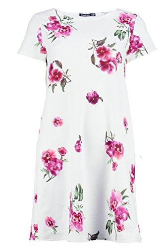Damen Multi Caitlin Etuikleid Mit Überschnittenen Schultern Und Blumen-print Multi