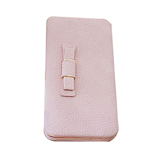 Zhhlaixing Mode Wallet Paragraph Korean Version Lovely bow Zipper Multi - Functional Large - Capacity Long Wallet Holding Bags for Women (Bow Purse Bag)