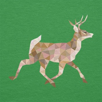 TEXLAB - Poly Deer - Herren T-Shirt Grün