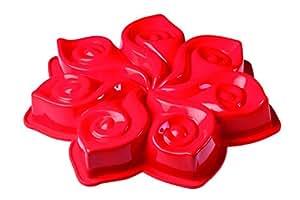 Tortiera Calla In Silicone Dim. 290X45Mm. Colore Rosso