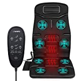 Naipo Back Massager Car Seat Massage Cushion Vibration Pad Cover for Back
