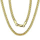 ChainsPro Charming Wheat-förmige Halskette böhmischen Stil Armband Weave Schmuck, 71cm Gold Kette
