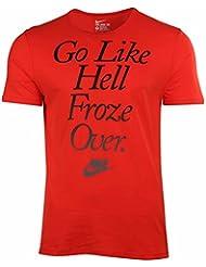 Les hommes de Nike vont tout d'abord congelé au-dessus du T-shirt sportif de coupe