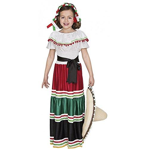 Mexikanisches Mädchen Kinderkostüm