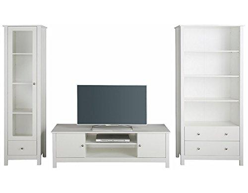 LifeStyleDesign 7012058 Wohnwand, Holz, weiß, 282 x 45 x 180 cm - 3