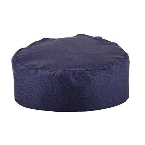 Whites Chefs Kleidung A204Skull Cap, Polyester-Baumwoll-, eine Größe, blau