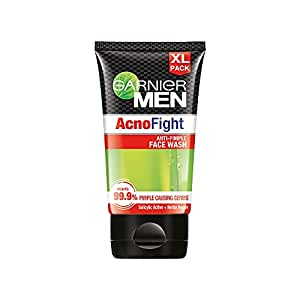 Garnier Men Acno Fight Anti-Pimple Facewash for Acne Prone Skin, 150g