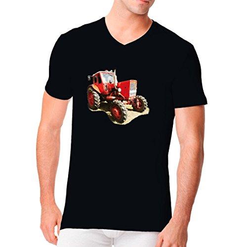 Traktoren Männer V-Neck Shirt - Traktor Belarus MTS 50 by Im-Shirt - Schwarz XL