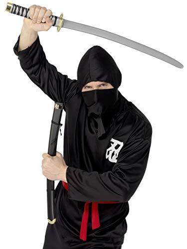 Chan Kostüm Jackie - Luxuspiraten - Kostüm Accessoires Zubehör Herren orientalisches Ninja Samurai Kämpfer Schwert mit Scheide (Attrappe), perfekt für Karneval, Fasching und Fastnacht, Schwarz