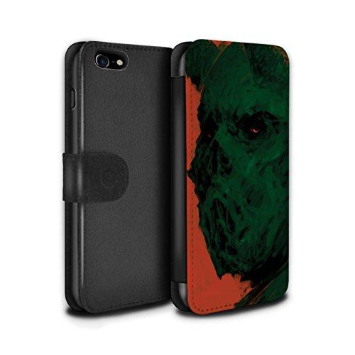 Offiziell Chris Cold PU-Leder Hülle/Case/Tasche/Cover für Apple iPhone 7 / Raubtier/Jäger Muster / Wilden Kreaturen Kollektion Ungeheuer/Troll