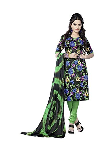 Readymade Minu Suits Cotton Stitched Dress Material New Black