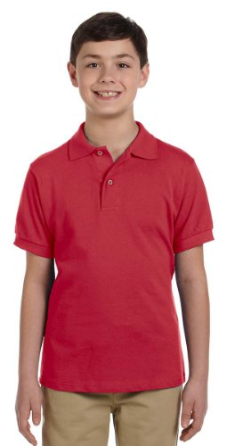 Jerzees 440y Jugend Baumwolle Pique Polo True Red