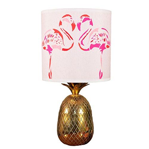 Chloe Croft London Limited Fuschia Flamingos 12Zoll Lampenschirm, andere, Rosa/Weiß/Rot/Schwarz (Chloe Seide Schwarzer)