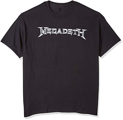 Skyey Camiseta de Manga Corta con Logo clásico Megadeth
