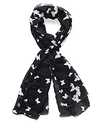 "Icw Women's Scarf (Black and White, 22"" x 72"")"