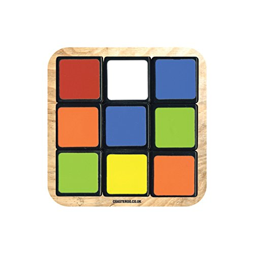 Rubik's Cube Drink's Coaster with Gloss Finish